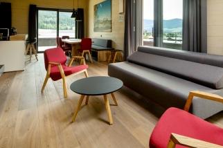 Lounge Schlafsofa Interior Design modern Innenarchitektur Hotel