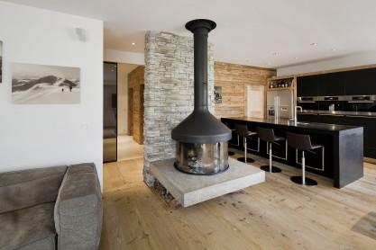Ofen Kamin Interior Design modern Innenarchitektur Einfamilienhaus