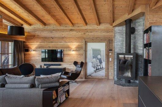 Kamin Ofen Interior Design modern Innenarchitektur Penthousewohnung